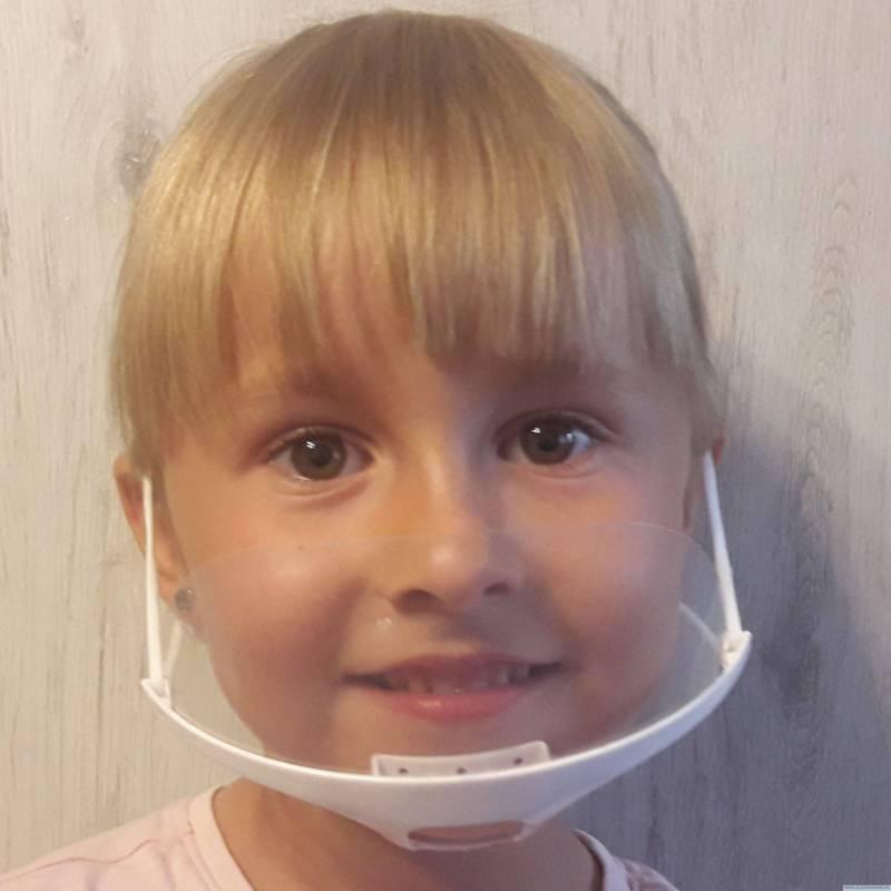 Maseczka plastikowa dla dzieci i młodzieży