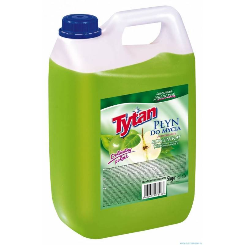 Płyn do mycia uniwersalny TYTAN 5,0 l Zielone Jabłuszko