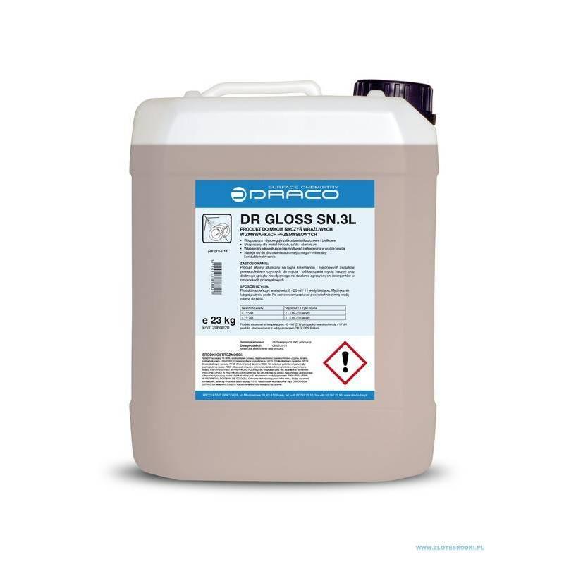 DR GLOSS SN.3 L - 12 kg - Płyn do zmywarek przemysłowych