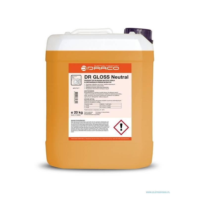 DR GLOSS Neutral - 10 kg - Płyn do płukania naczyń w zmywarkach przemysłowych